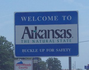Arkansas Welcome Sign