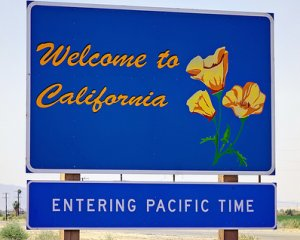 California Welcome Sign