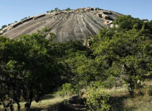 Enchanted Rock Natural National Monument, located in the Llano Uplift, approximately 15 miles south of Llano, Texas