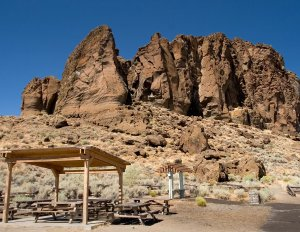 Fort Rock Natural National Monument, located on an Ice Age lake bed in north Lake County, in south-central Oregon