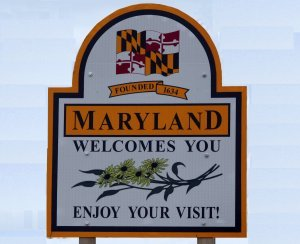 Maryland Welcome Sign