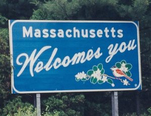 Massachusetts Welcome Sign