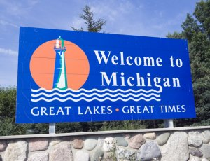 Michigan Welcome Sign