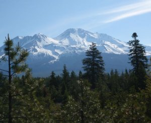 Mount Shasta Natural National Monument, located about 200 miles north of Sacaramento, California