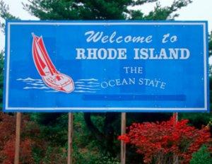 Rhode Island Welcome Sign