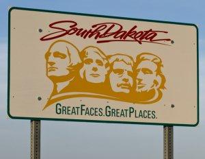 South Dakota Welcome Sign