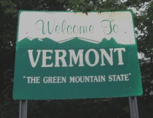 Vermont Welcome Sign