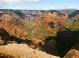 Waimea Canyon, on Kauai's west side; nicknamed Grand Canyon of the Pacific