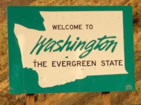 Washington Welcome Sign