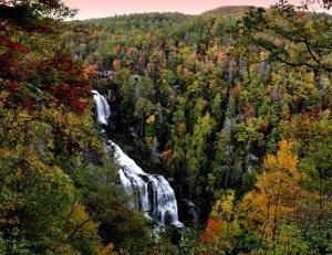 Whitewater Falls, Jocassee Gorge, North Carolina
